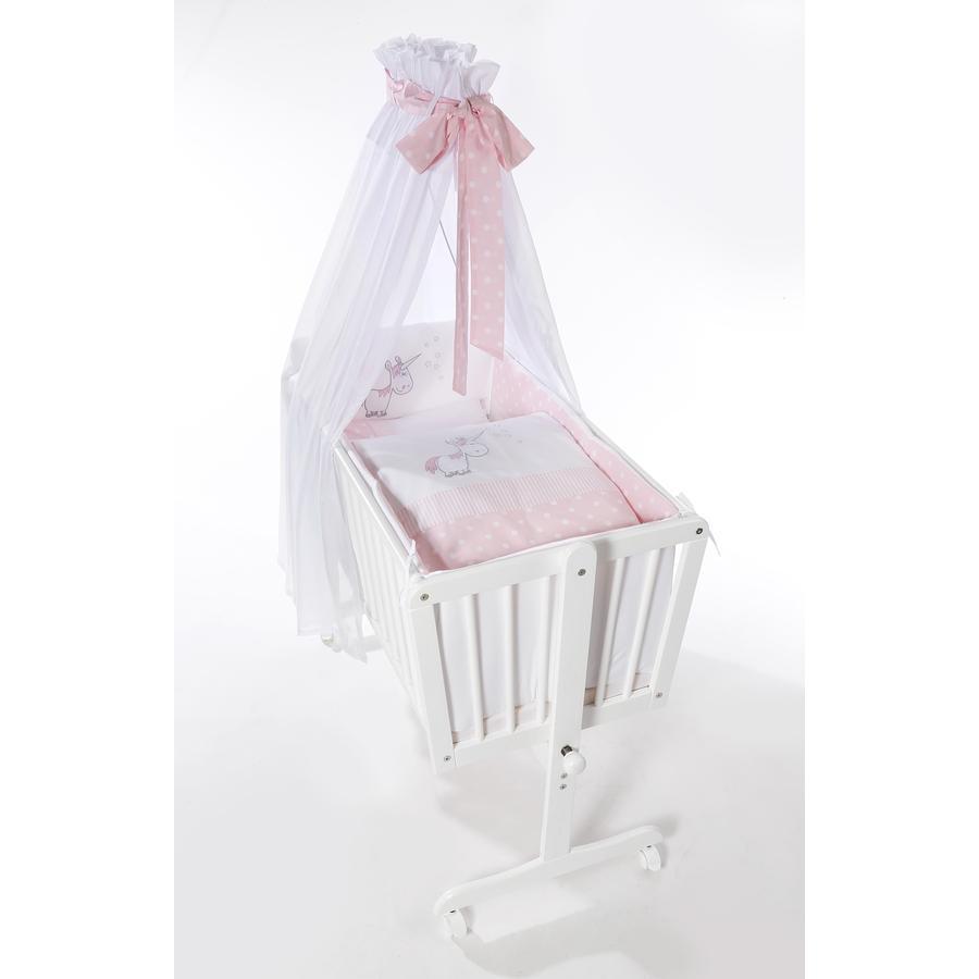easy baby Berceau à roulettes complet licorne rose