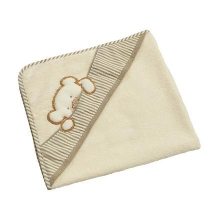 Be Be 's Collection Handdoek met capuchon Big Willi beige 80 x 80 cm