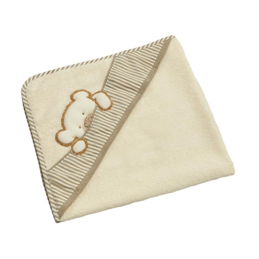 Be Be 's Collection Badehåndklæde med hætte Big Willi beige 80 x 80 cm