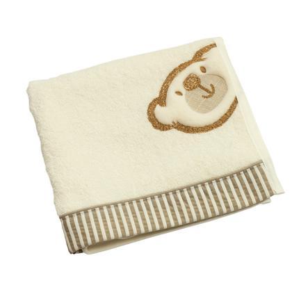 BeBes Collection Serviette de bain enfant Big Willi beige 50x90 cm