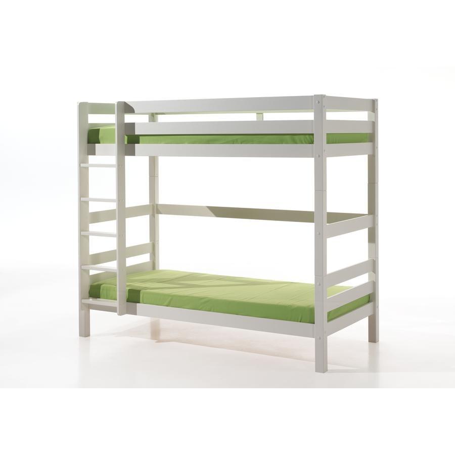 VIPACK Etagen-Hochbett Pino weiß 182 cm