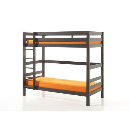 VIPACK Etagen-Hochbett Pino taupe 182 cm