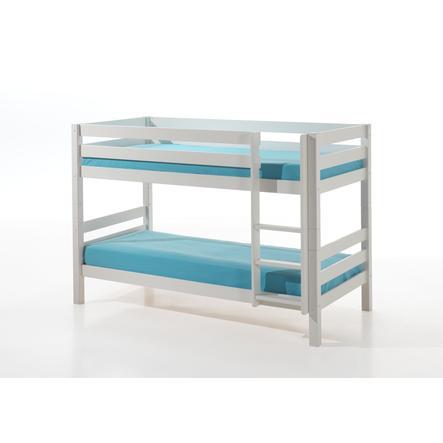 VIPACK Etagen-Hochbett Pino weiß 140 cm