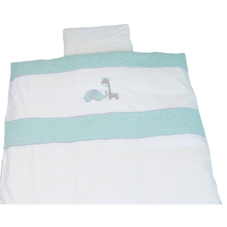 BeBes Collection Parure de lit enfant Max & Mila menthe 80x80 cm