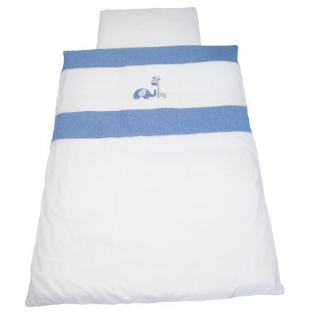 BeBes Collection Parure de lit enfant Max & Mila bleu 100x135 cm