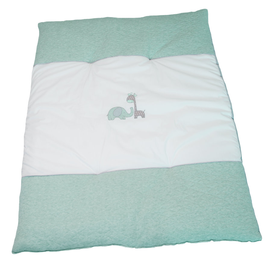 Be Be 's Collection Krabbeldecke Max & Mila mint 100 x 135 cm