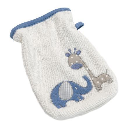 BeBes Collection Gant de toilette enfant Max et Mila bleu