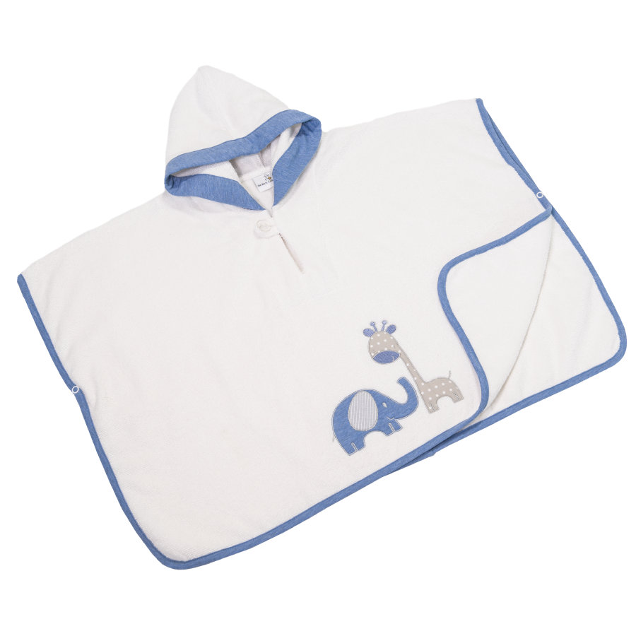 Be Be 's Collection Poncho de bain enfant capuche Max & Mila bleu