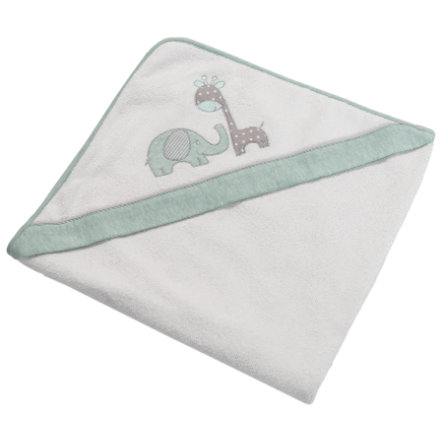 Be Be 's Collection Badhandduk med huva Max & Mila mint 80 x 80 cm