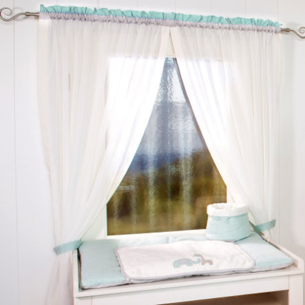 Be 's Collection curtain 2 loop scarves Max & Mila 100 mint x 150 cm
