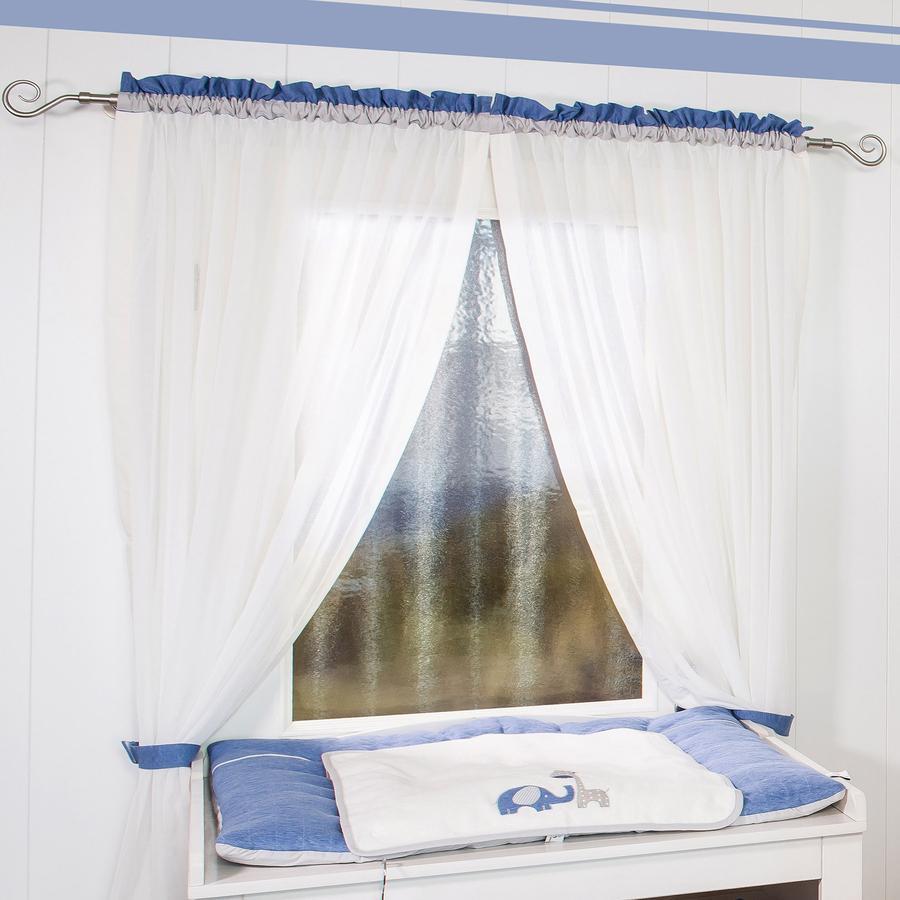 Be Be Be 's Collection cortina 2 bufandas de lazo Max & Mila azul 100 x 240 cm