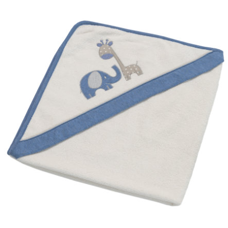 Be Be 's Collection Handdoek met capuchon Max & Mila blauw 80 x 80 cm