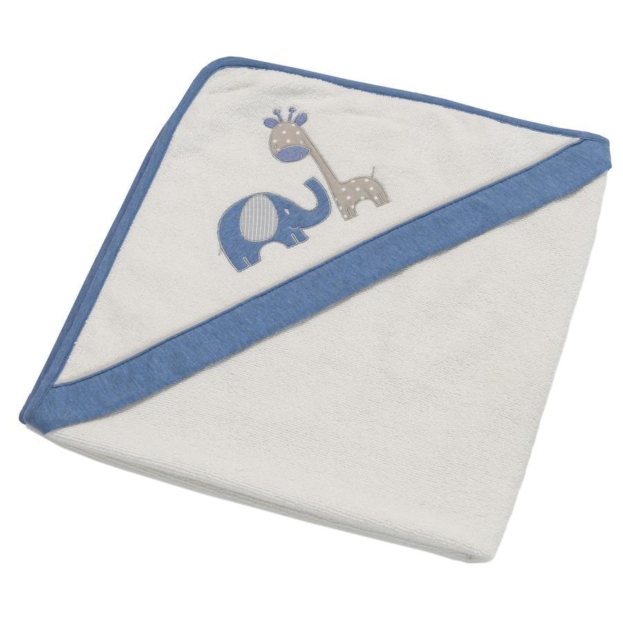 Be' s Be' s telo da Collection bagno con cappuccio Max & Mila blu 80 x 80 cm