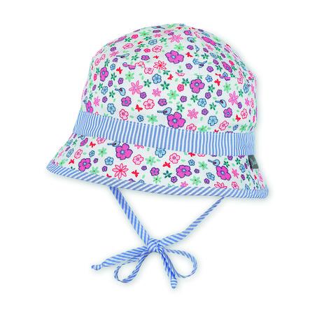 Sterntaler Girl s sombrero de pesca aves/ flores ecru