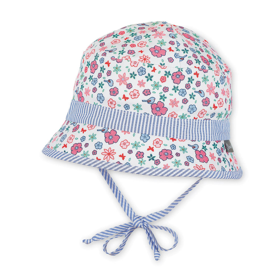 Sterntaler Girl s cappello da pesca uccelli / fiori ecrù
