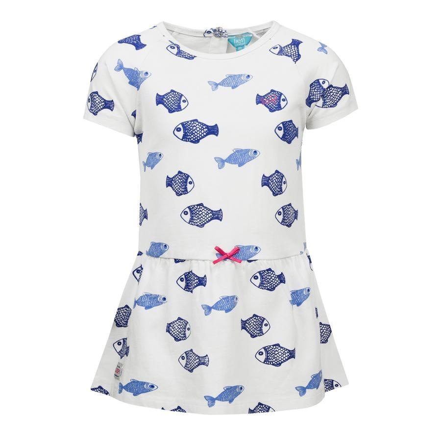corrió! Girl s vestido con peces