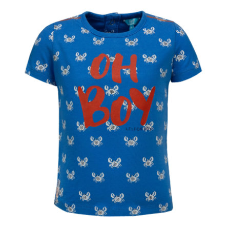 corrió! Boys T-Shirt Cáncer, azul