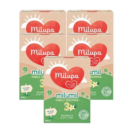 Milupa Folgemilch milumil 3 Vanille 5 x 600 g ab dem 10. Monat