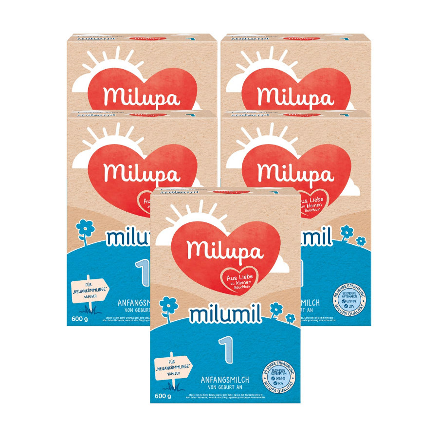 Milupa Anfangsmilch Milumil 1 5 x 600 g ab der Geburt