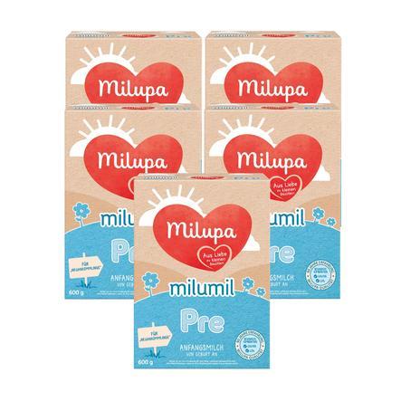 Milupa Anfangsmilch Milumil Pre 5 x 600 g ab der Geburt