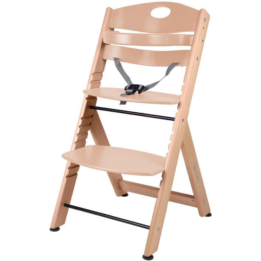 babyGO Chaise haute enfant évolutive Family XL, bois naturel