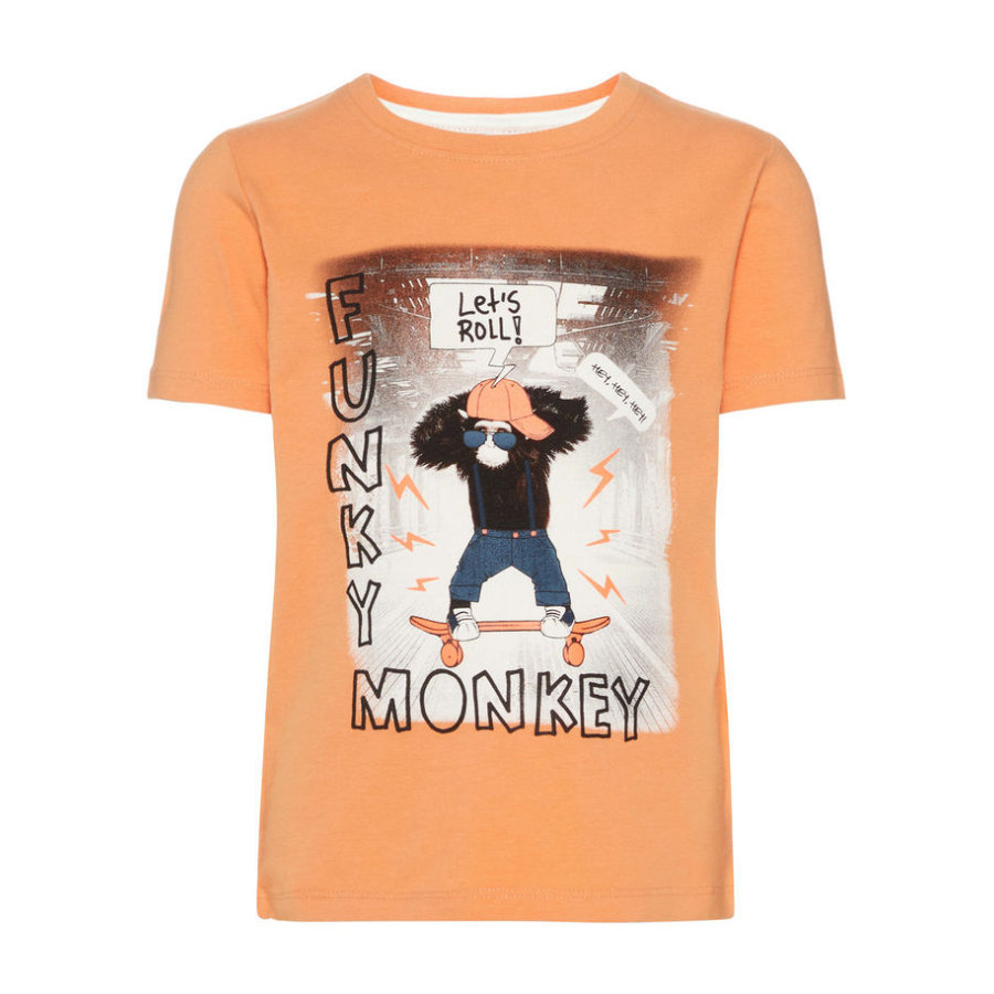 name it Boys T-Shirt Saku koperen bruine teint