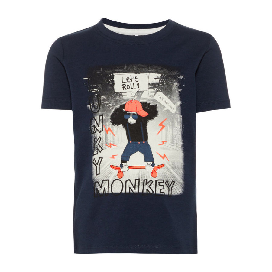 name it Boys T-Shirt Zaffiro scuro di Saku