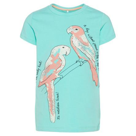 name it Girl s T-Shirt Sanni pool blue blue