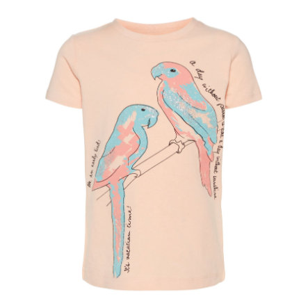 NAME IT Tyttöjen t-paita Sanni persikka y innokas