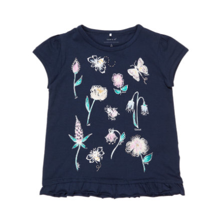 name it Girl s T-Shirt Nmffabella zafiro oscuro