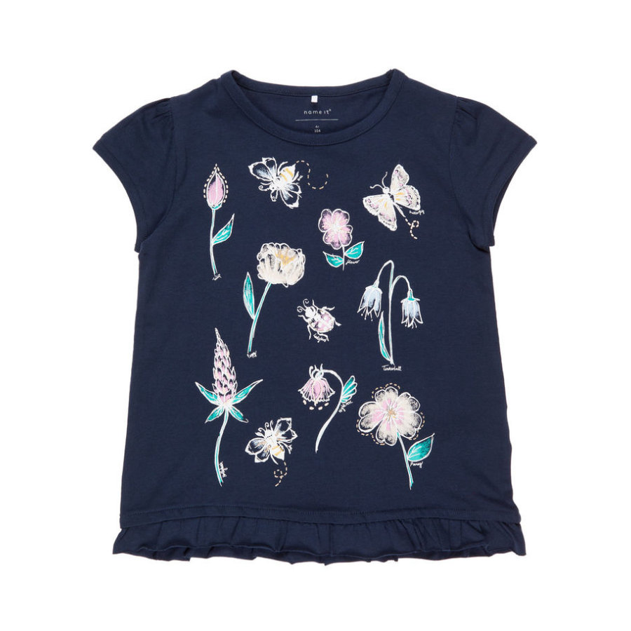 name it Girls T-Shirt Nmffabella dark sapphire
