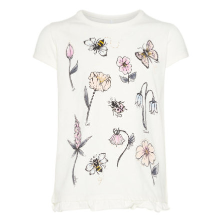 name it Girls T-Shirt Nmffabella snow white