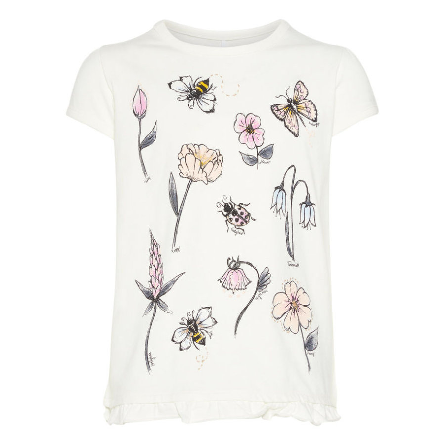 name it Girl s T-Shirt Nmffabella bianco neve