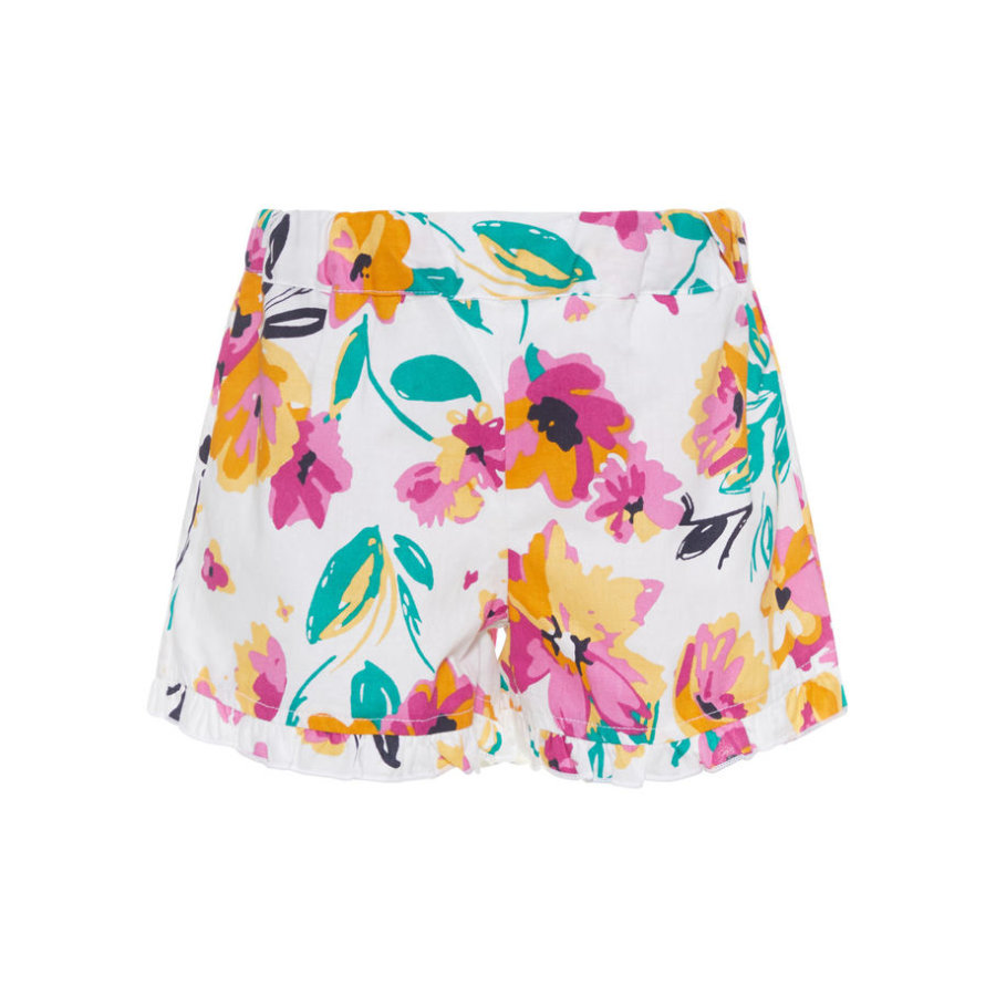 name it Girls Sweat Shorts Nmfvalaia brigth white big flowers
