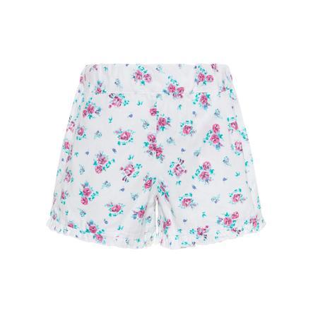 name it Girl s Pantalones cortos Nmfvalaia blanco brillante pequeñas flores