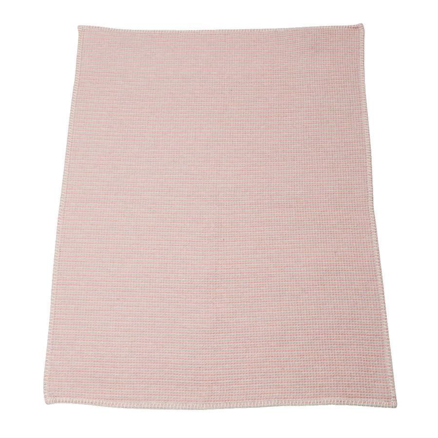 DAVID FUSSENEGGER Tæppe stribet gammel rosa 65 x 90 cm