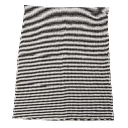 DAVID FUSSENEGGER Kocyk dziecięcy wafel paski antracyt 65 x 90 cm