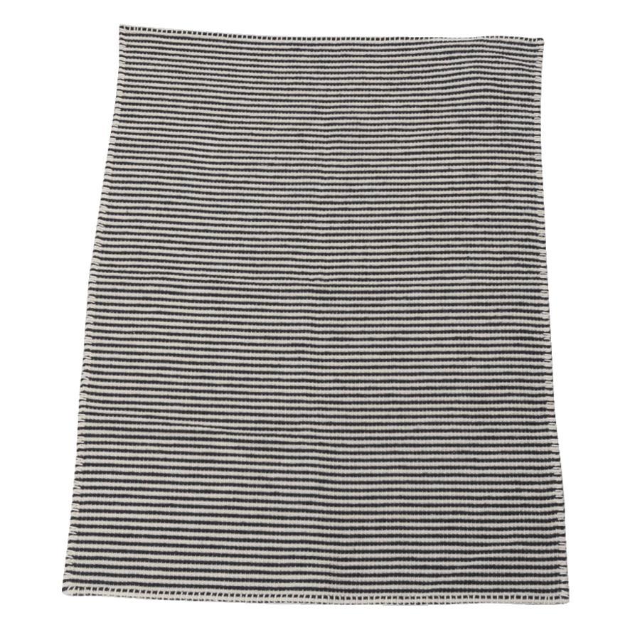 DAVID FUSSENEGGER Waffeldecke gestreift anthrazit 65 x 90 cm