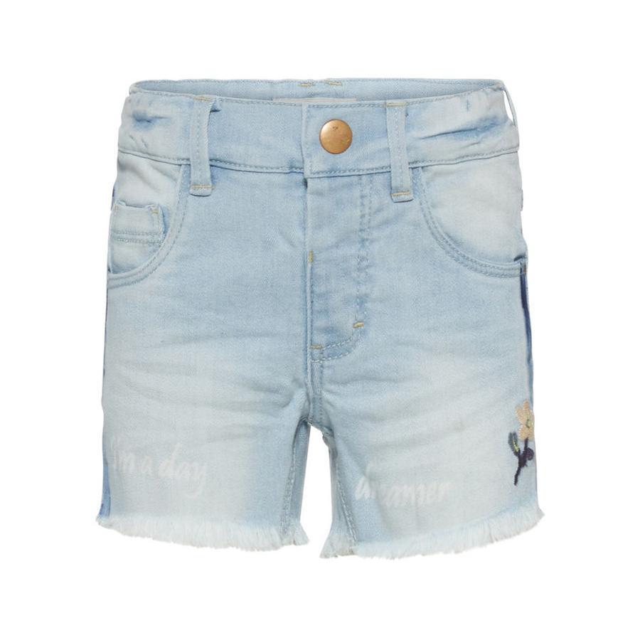 name it Girl s Pantalones cortos Nmfsalli azul claro denim