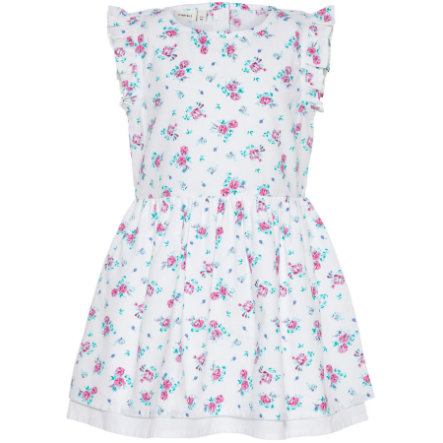 name it Girl Vestido Nmfvalaia flores pequeñas de color blanco brillante