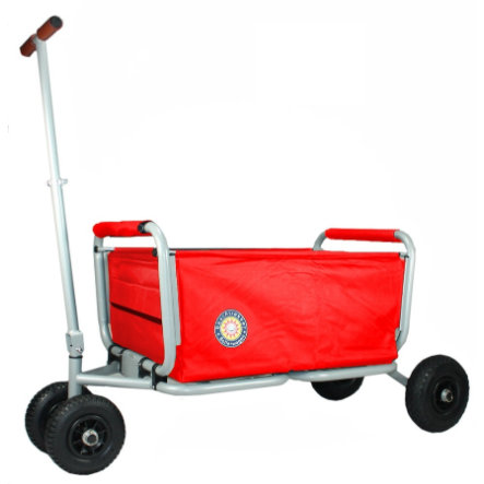 BEACHTREKKER Faltbarer Bollerwagen LiFe inkl. Feststellbremse, rot
