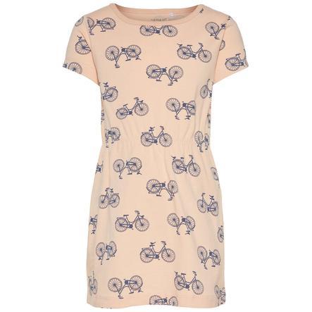 name it Girl s dress Nmfvelvet peachy keen