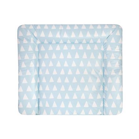 JULIUS ZÖLLNER Fasciatoio tappetino cambio foglio piatto triangolo blue 75 x 85 x 4 cm