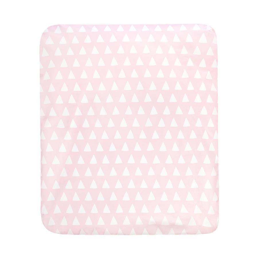 JULIUS ZÖLLNER Wickelkissen Softy Folie Triangel pink  75 x 85 cm