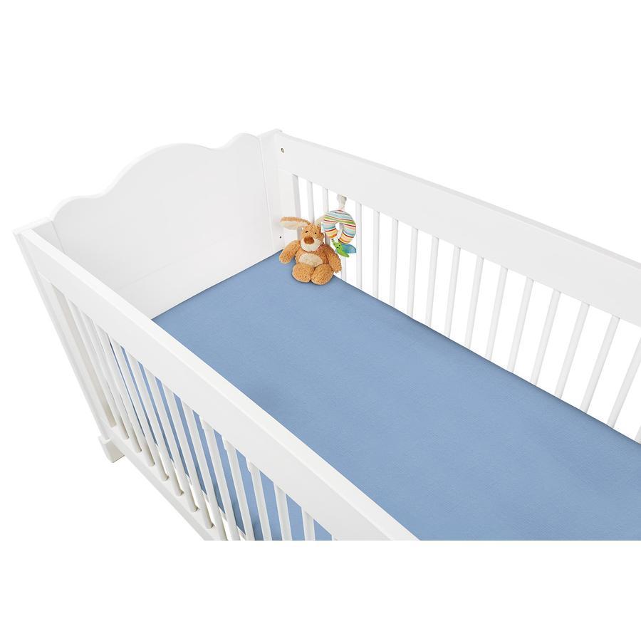 Pino lino hoeslaken dubbelpaks badstof - lichtblauw