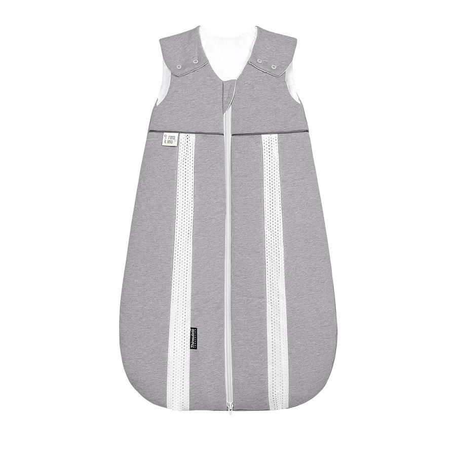 odenwälder Babynest prima klima Thinsulate-Jersey-Schlafsack melange silber 60cm - 110cm