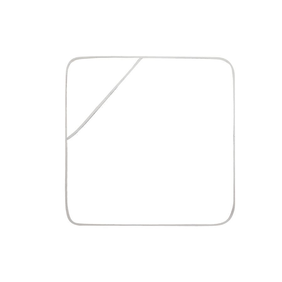 odenwälder Ręcznik kąpielowy z kapturem cool fish 100 x 100 cm light silver