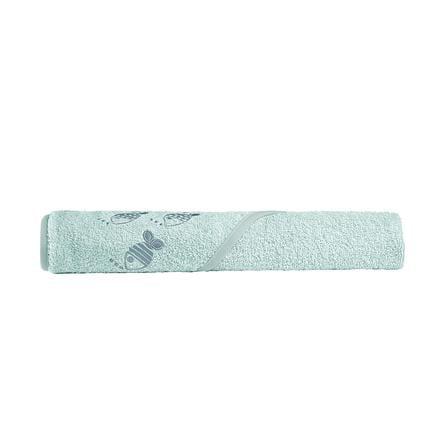 odenwälder Ręcznik kąpielowy z kapturem cool fish 100 x 100 cm frozen mięta