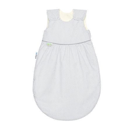 odenwälder Saco de dormir de verano Klimasoft Cold dots light grey 60cm - 110cm