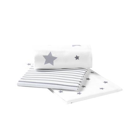 odenwälder velké ručníky 3 ks light silver  80 x 80 cm